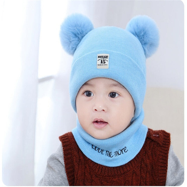 blue baby winter hat