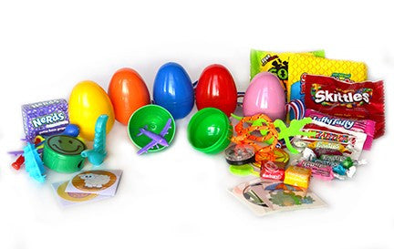 (2 items) 1 Candy & 1 Toy filled Eggs - (100) pcs