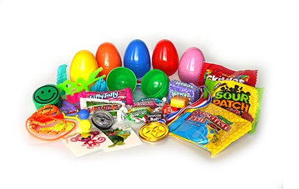 (2 Items) Candy or Toy or Tattoo Assorted eggs 2 Pieces - 1000