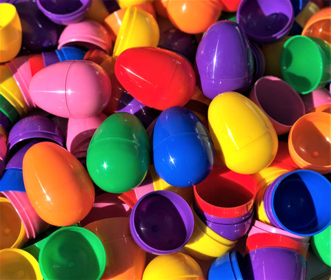 Unfilled easter eggs 1000 pcs gifts galore bulk plastic easter eggs 500 count negle Images