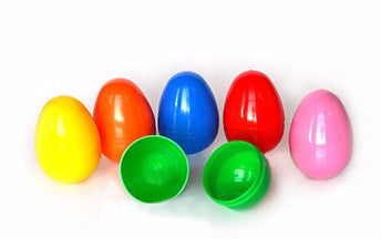Unfilled Plastic Easter Eggs - 500 Count