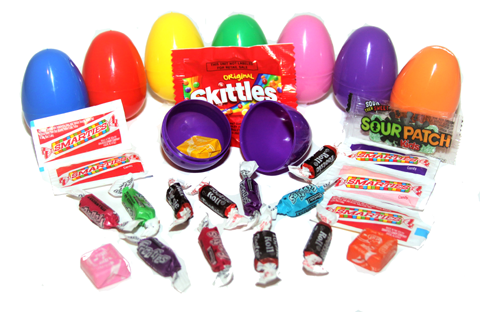 (1 Item) Candy Filled Eggs - (250) Pieces