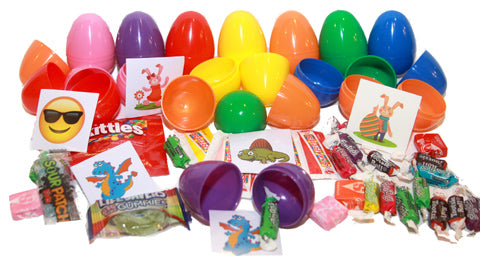(2 Items) 1 Candy and 1 Sticker or Tattoo Filled Eggs - 1000