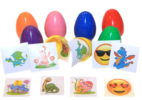 (2 Items) - 2 Stickers or Tattoo filled Eggs - (1000) pcs