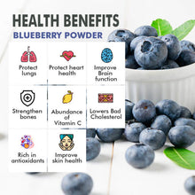 Load image into Gallery viewer, Blueberry Powder – Real Fruit Only (No Added Sugar)