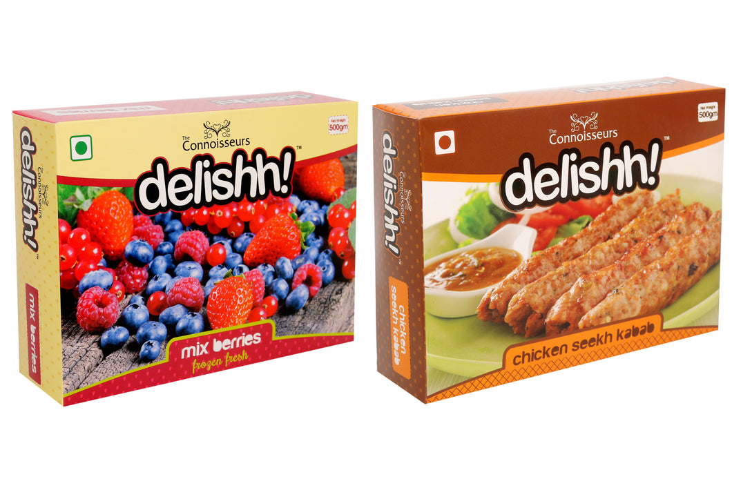 Mix Berries & Chicken Seekh Kabab Combo 1 KG