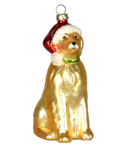 Santa Paws Retriever Ornament D309