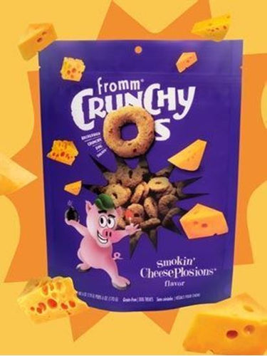 Fromm Cheese Plosions Crunchy O's, 6 oz.