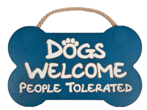 Dogs Welcome Bone Sign