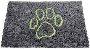 Dirty Dog Doormat Large Cool Gray/Lime Green