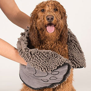 Dirty Dog Shammy Towel, Grey