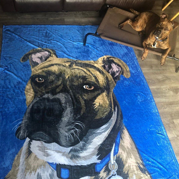 5D Diy Custom Family With Pet Photo Diamond Painting