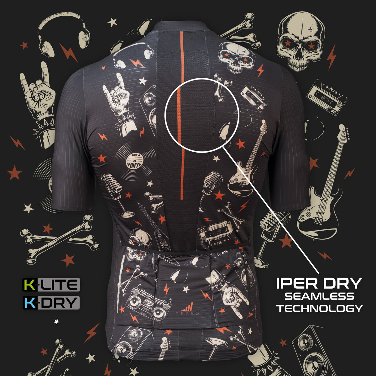K-LITE JERSEY - ROCK BLACK - Man