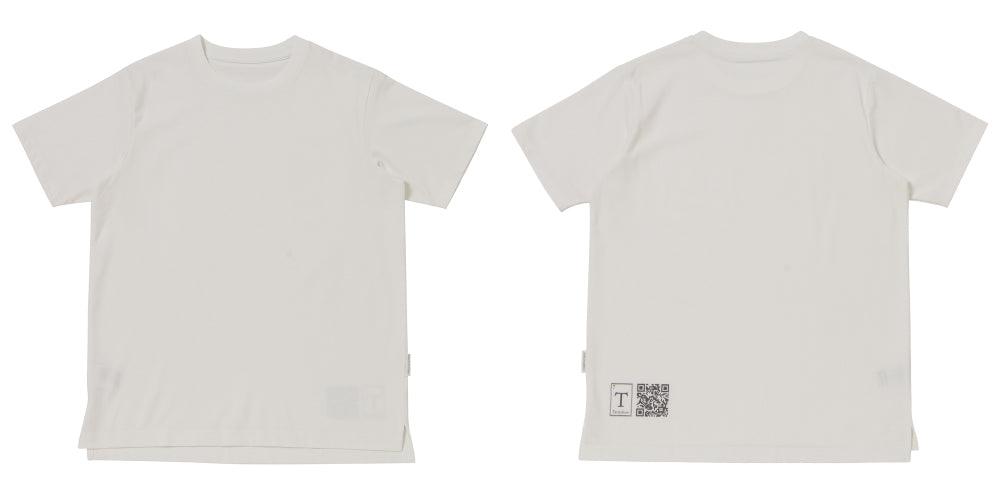 Tシャツ「PARK」白正面背面平置き
