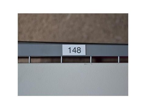 Number plate basic for lockers self adhesive