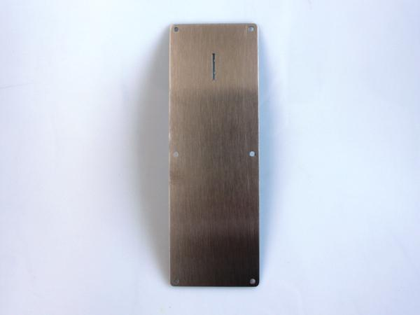 Stainless steel front plate for Range Maxx token 6