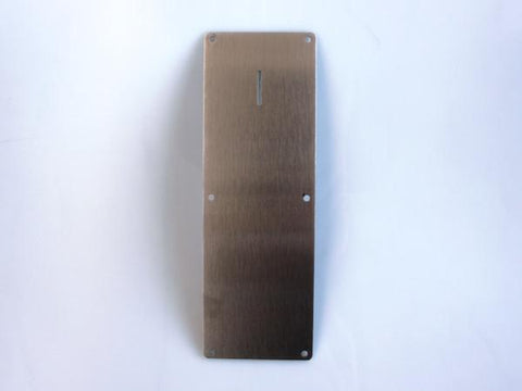Stainless steel front plate for Range Maxx token 7