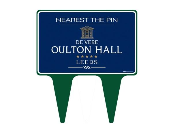 Nearest The Pin 30 x 20 cm sign plate