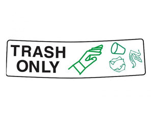 Decal TRASH ONLY  for Caddie covers 76 and 114 L