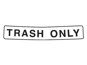 Decal TRASH ONLY for Caddie covers 34 L