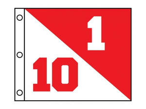 Semaphore flags w/grommets (set) Red/white Dual nrs 1/10 - 9/18