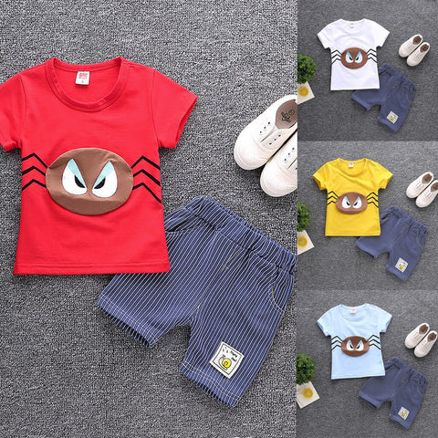 Fashion Summer Toddler Kids Baby Boys 2PCs