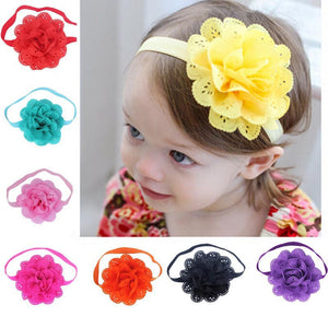New 8Pcs Baby Girls Flower Headbands