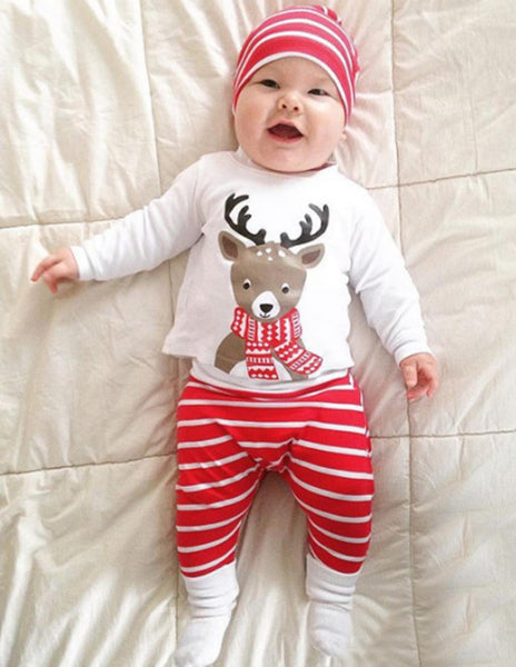 New Newborn Baby Boy Girl Christmas Deer