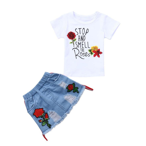 2Pcs Toddler Baby Girls Clothes Set - Shorts for Baby Girls | Buy It