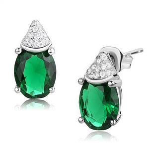 3W1371 Rhodium 925 Sterling Silver Earrings with