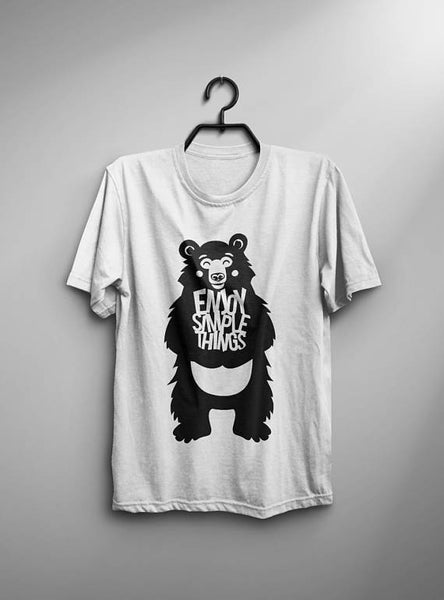 Enjoy Bear T-shirt Men Tshirt Male Fashion Shirt