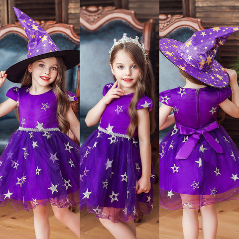 Child Girls Kids Halloween Star Princess