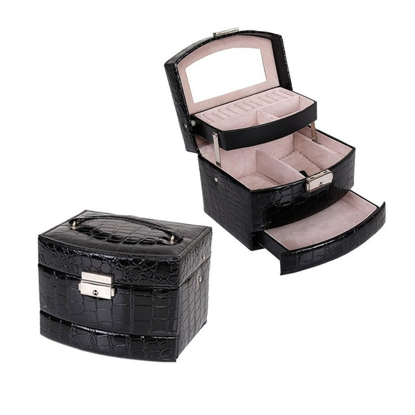 Women Makeup Carrying Case Casket Jewelry