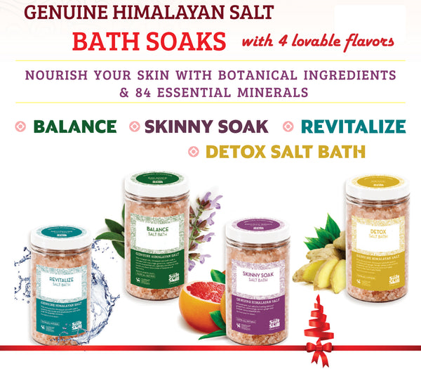 Salt Skill - Natural Himalayan Soaking Bath Salts Skinny 32 OZ