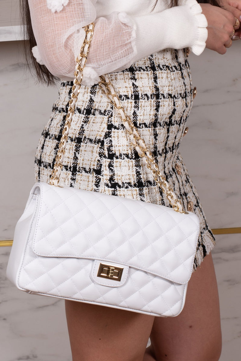 AUDREY MEDIUM WHITE BAG-bags-Le Musthave
