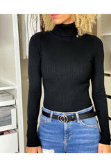 BASIC BLACK TURTLE NECK PULL-TOPS-Le Musthave