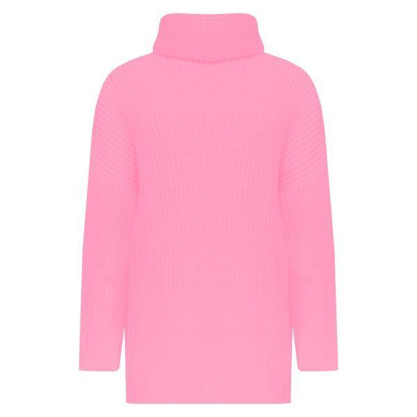 BASIC KNITTED COL SWEATER PINK-SWEATER-Le Musthave