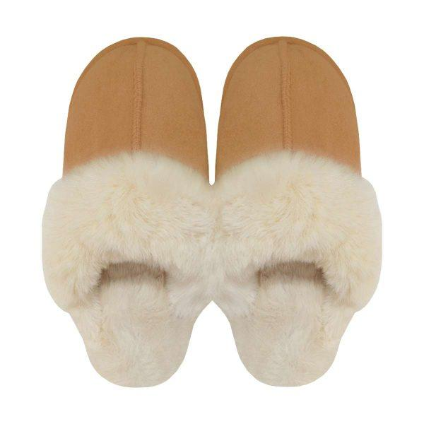 BEAR SLIDES CAMEL-SLIPPERS-Le Musthave