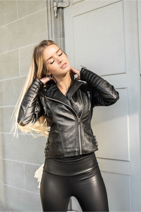 BIKER JACKET BLACK-Le Musthave