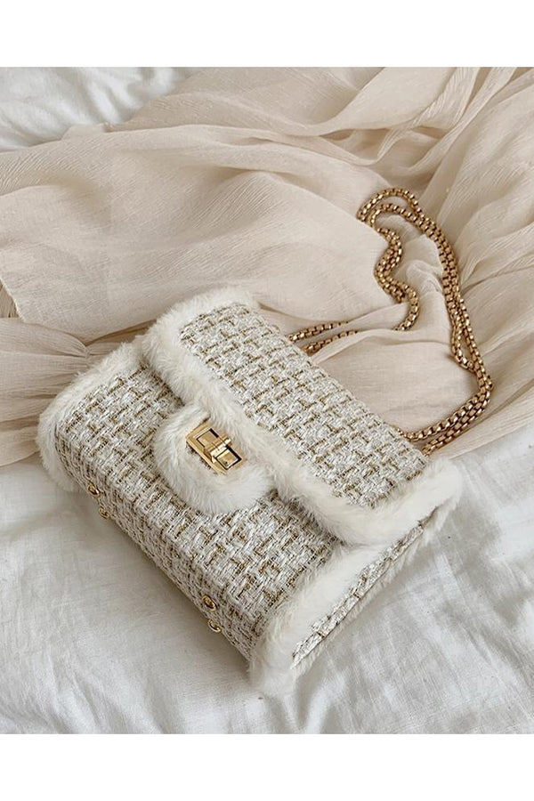 CALL ME CLASSIC SHOULDER BAG WHITE-Le Musthave