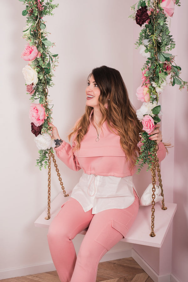 COMFY 2 PIECE BLOUSE SET PINK-SETS-Le Musthave