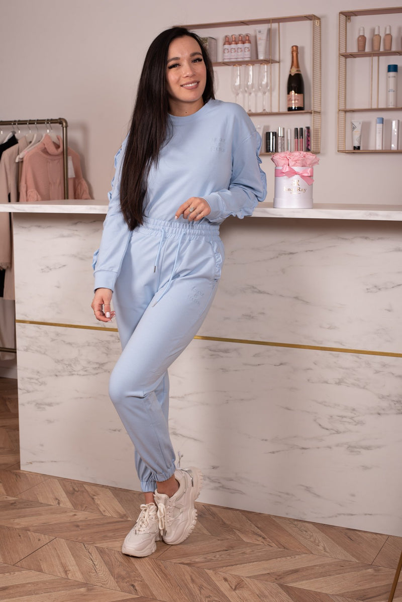 COMFY SET RUFFLES BABY BLUE-SETS-Le Musthave