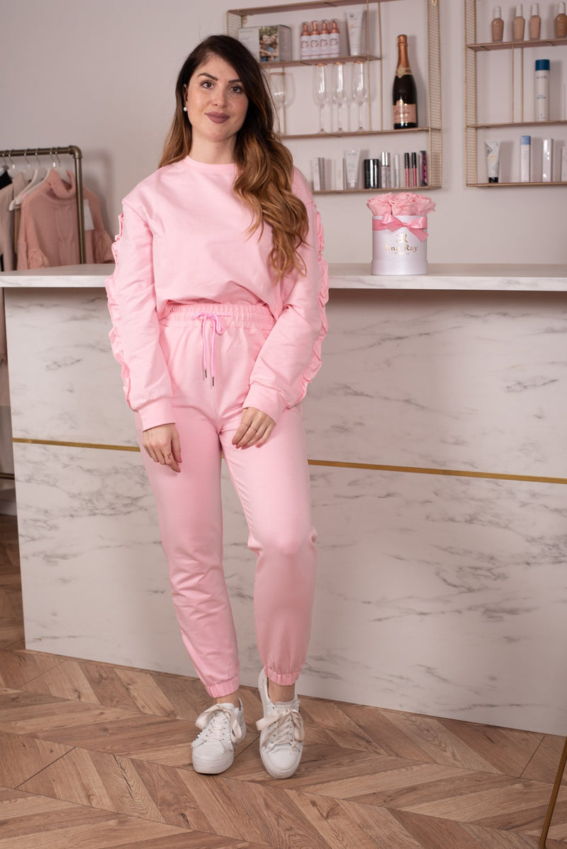 COMFY SET RUFFLES PINK-SETS-Le Musthave