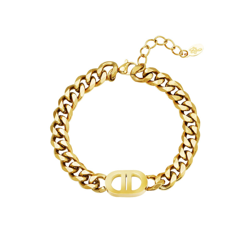 DOMINIQUE GOLD BRACELET-jewellery-Le Musthave