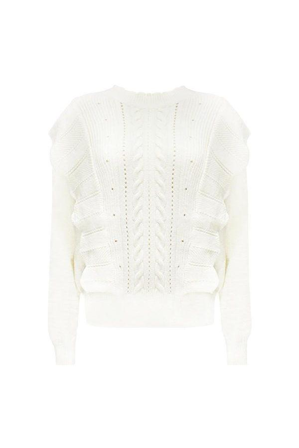 EMMA RUFFLE SWEATER WHITE-sweater-Le Musthave