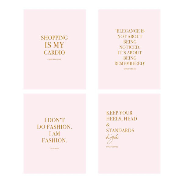 FASHION QUOTES CARDS-gift-Le Musthave