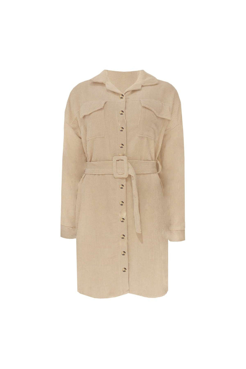 FEDI RIB DRESS BEIGE-Le Musthave