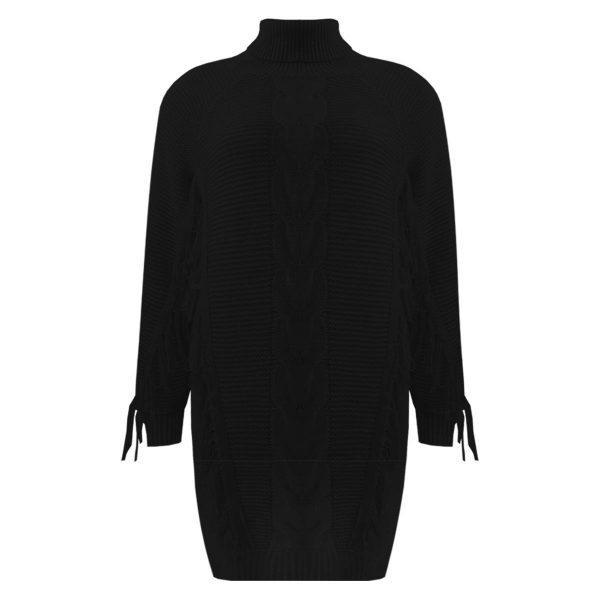 FRINGE SWEATER BLACK-SWEATER-Le Musthave