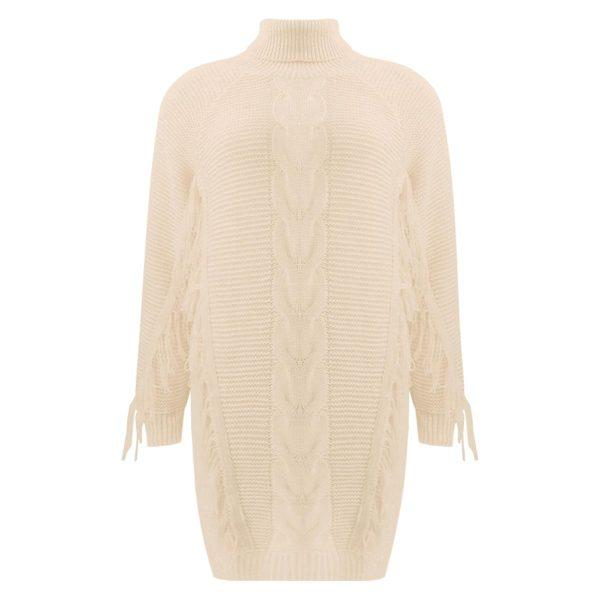 FRINGE SWEATER TAUPE-SWEATER-Le Musthave