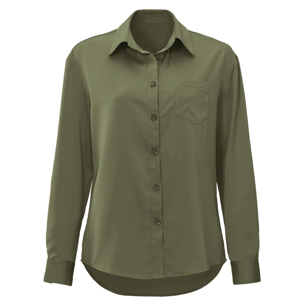 GLADYS ARMY GREEN BLOUSE-Le Musthave